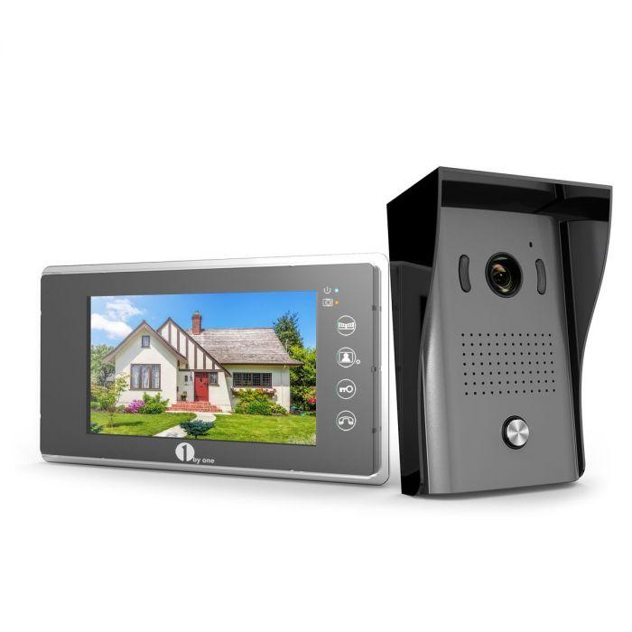 1byone video doorphone 2 wires video intercom system 7 inch colorTwo Door Buzzer With Display #6