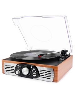 Belt-Drive 3-Speed Stereo Turntable with Built in Speakers