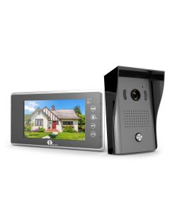 Video Doorphone 2-Wires Video Intercom System 7-inch Color Monitor