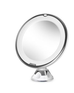 Makeup Mirror,  BEAUTURAL 10X Magnifying Lighted Vanity Mirror with Daylight White LED, Portable Illuminated Bathroom Mirror, 360 Degree Swivel Rotation and Locking Suction