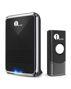 Easy Chime Wireless Doorbell Kit, 6 Melodies to Choose-1 Battery Recevier + 1 Button