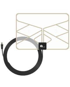 0.5 mm Paper Thin TV Aerial Amplified Indoor TV Antenna