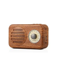 Portable Retro Wood Stereo Bluetooth Mini Speaker with FM Radio