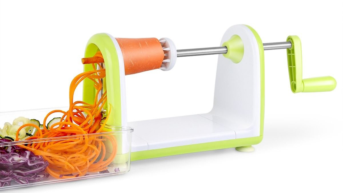 Enhance Your Kitchen Chopping Experience with 1byone's SimpleTaste Spiral Slicer @$14.99 Only!