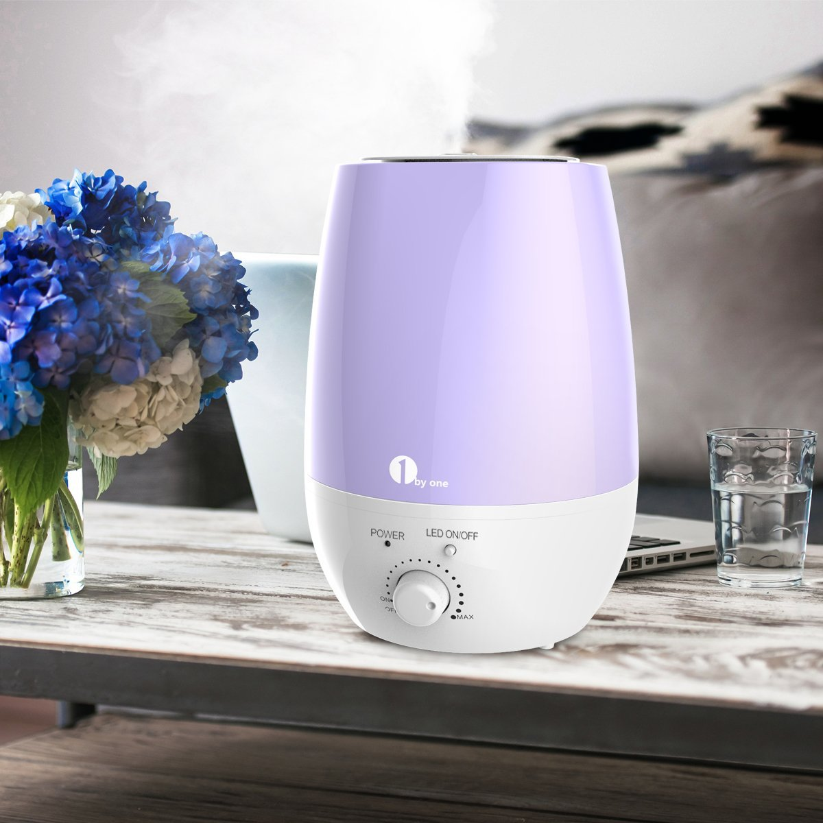 Breathe better with 1byone's Ultrasonic Cool Mist Humidifier